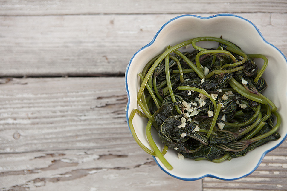 Sautéed Greens with Garlic and White Wine