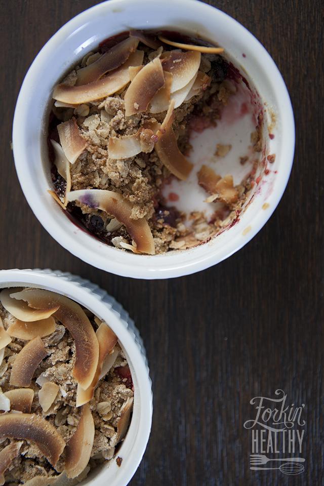 Berry Chia Crisp | Forkin' Healthy