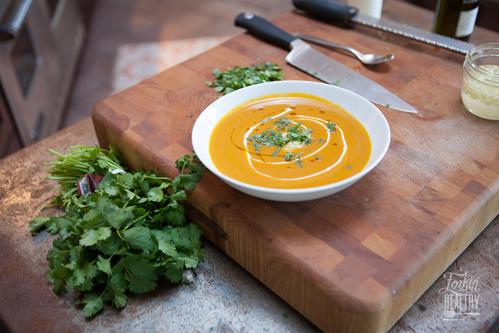 Curried Coconut Squash Soup | Forkin' Healthy
