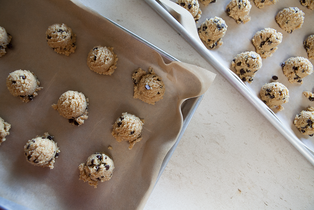 Chocolate Chip Cookie Dough Balls | Forkin' Healthy