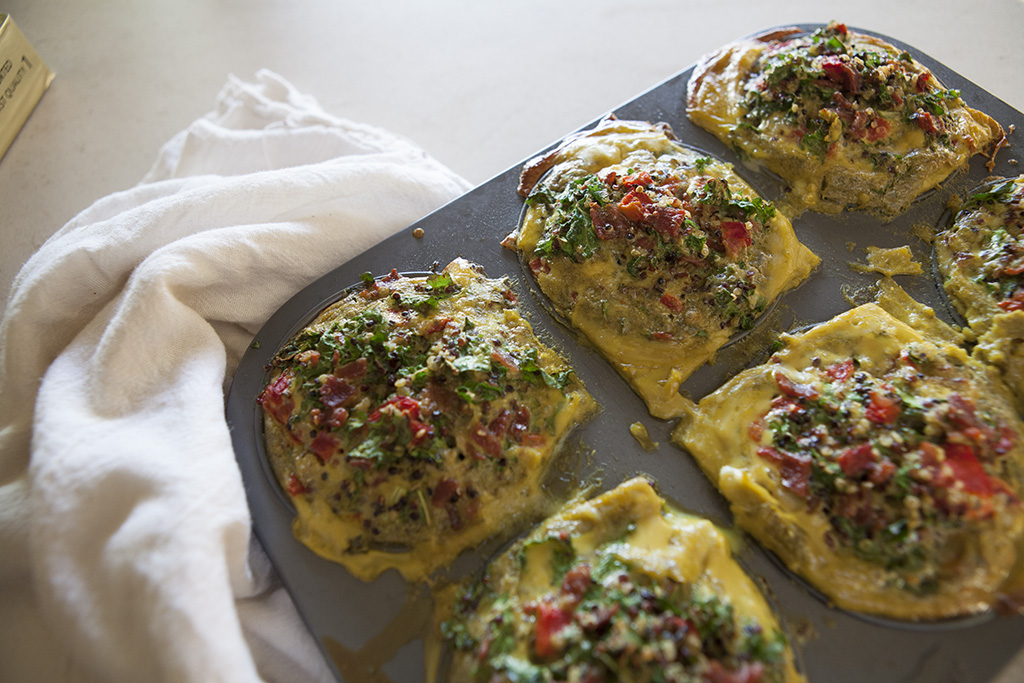 Roasted Red Pepper & Basil Frittata | Forkin' Healthy
