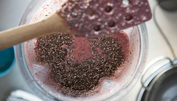 Cherry and Chocolate Chip Chia Pudding