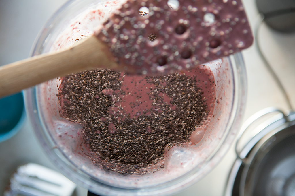 Cherry Chocolate Chip Chia Pudding | Forking Healthy #glutenfree #vegan #healthy