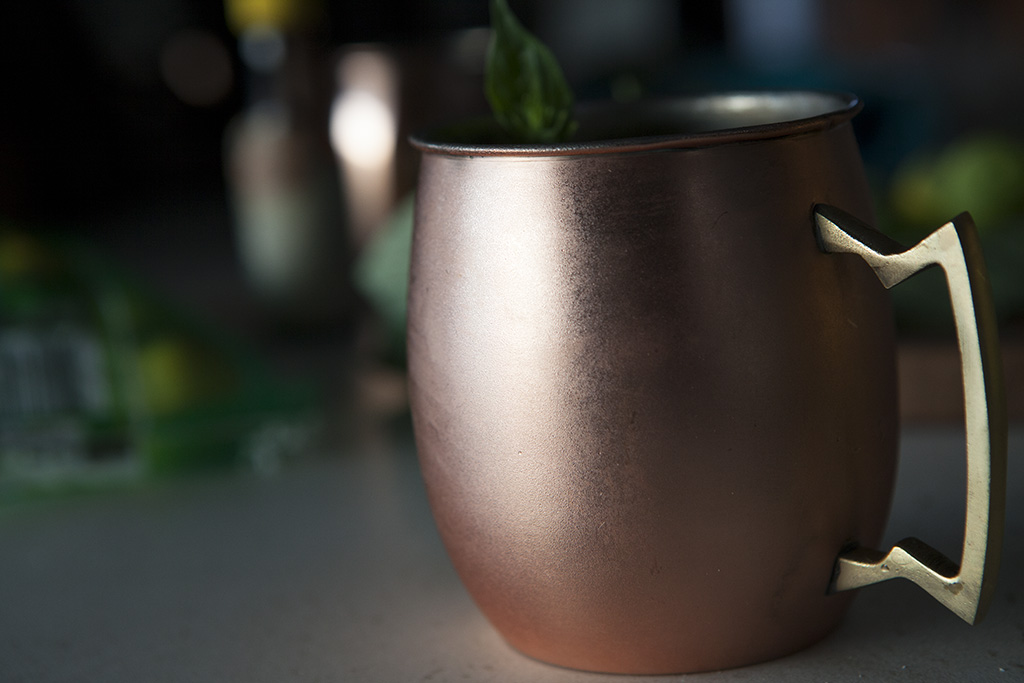Cucumber Basil Moscow Mule