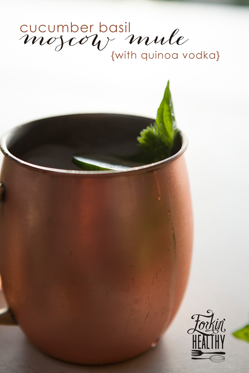 Cucumber Basil Moscow Mule | Forkin' Healthy