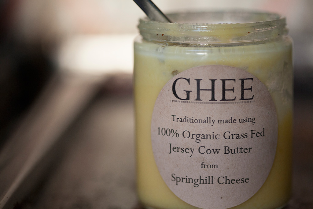organic ghee | shrimp n grits | forkin' healthy