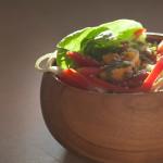 Mango and Red Pepper Salad with Orange Cilantro Dressing