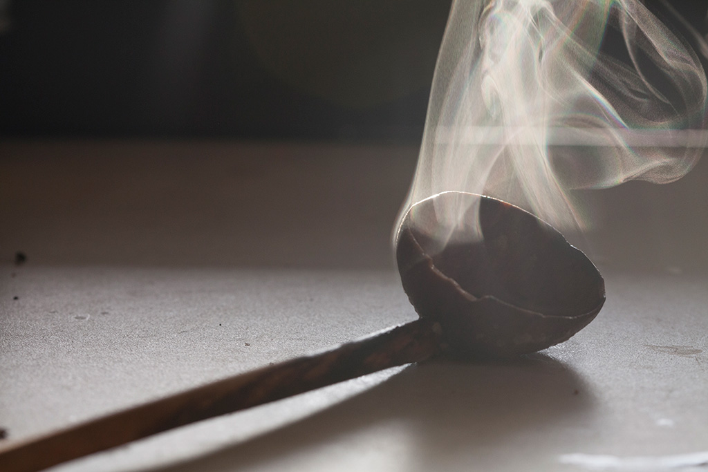 steaming rustic ladle | forkin' healthy