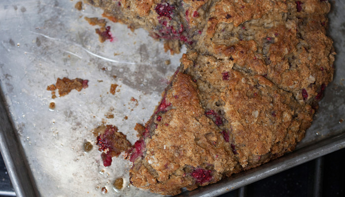 Gluten free raspberry oat scones by Forkin' Healthy